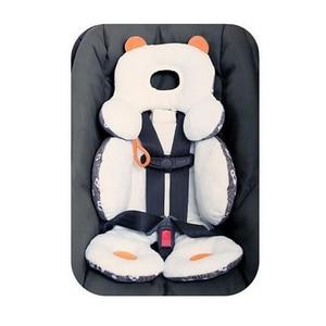Image 4 - Coton bébé poussette doublure siège coussin doux infantile épais landau coussin bébé chaise voiture siège tapis bébé poussette coussin accessoires