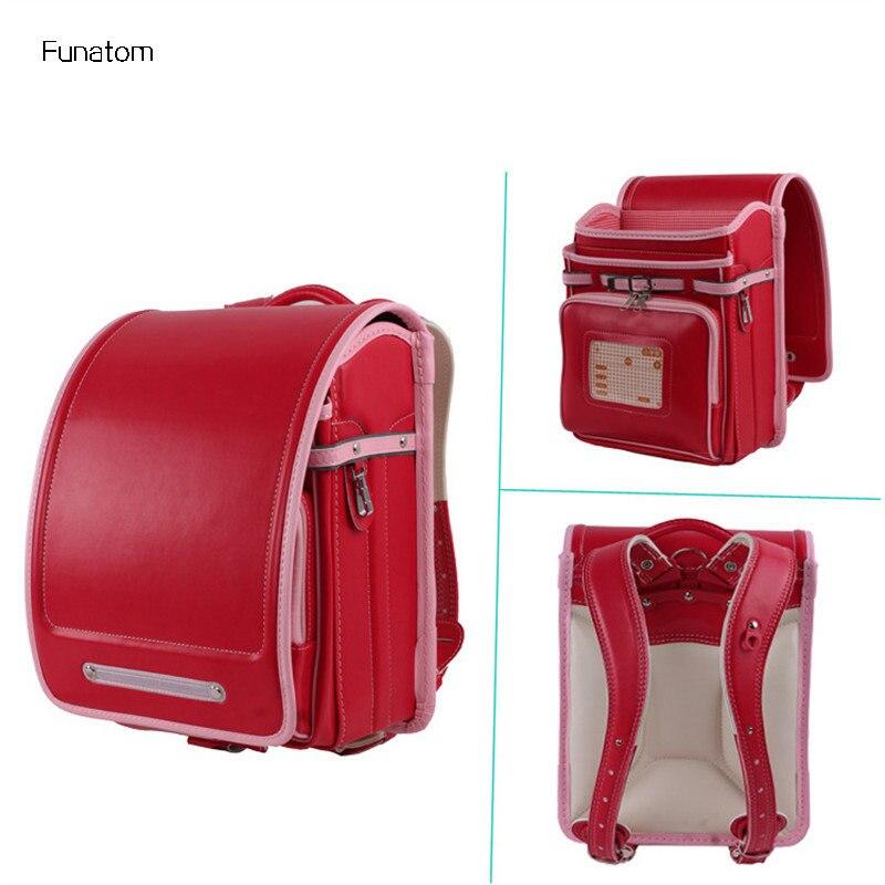 Kid Orthopedic Japanese Students Bookbags School Bag Children Backpack For Girl And Boys Japan PU Randoseru Backpack Hot in School Bags from Luggage Bags