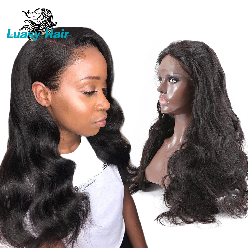 Brazilian 360 Lace Frontal Wigs Body Wave 250 Density Lace Front Human Hair Wig For Black