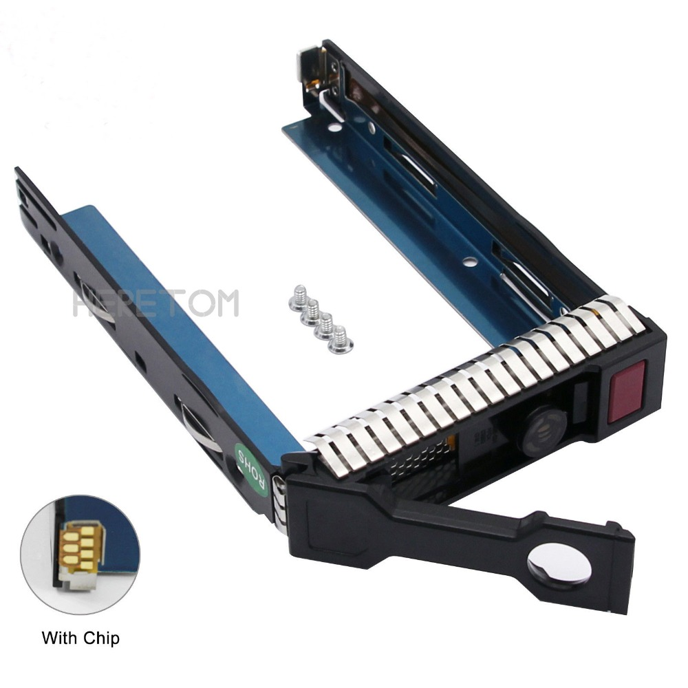 Sporting Heretom W/chip Hard Drive Caddy 651314-001 3.5 Gen8 Sas Sata Hdd Tray Caddy Sled Ml350e Ml310e Sl250s G8 Caddy Bracket Lustrous Surface Hdd Enclosure