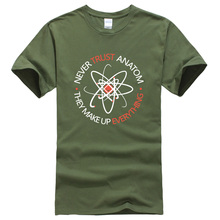 2017 Never Trust an Atom, they Make Up Everything Science Unisex Printed Summer Fashion funny Tops Tees T-shirts men t shirt mma