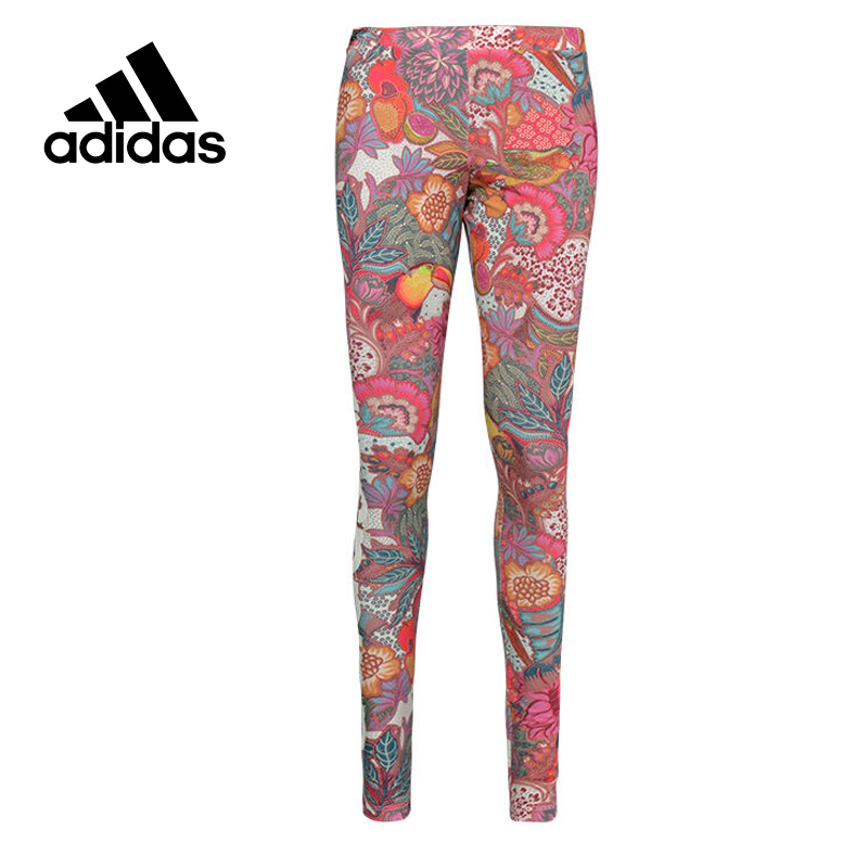 Adidas Original New Arrival Official Women's Tight Elastic Waist Full Length Colourful Pants Sportswear BJ8409 original new arrival official adidas women s tight elastic training black pants sportswear