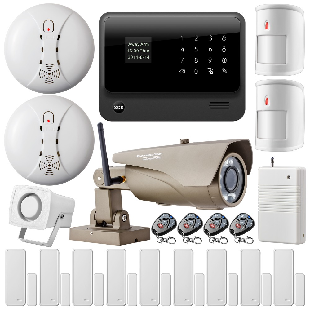 Wifi Internet Gsm Gprs Sms Home Security Alarm System Kit