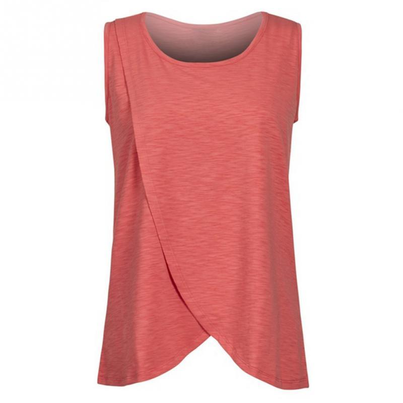 Ruffles Maternity Nursing Summer Sleeveless Breastfeeding Shirts Clothes for Pregnant Women