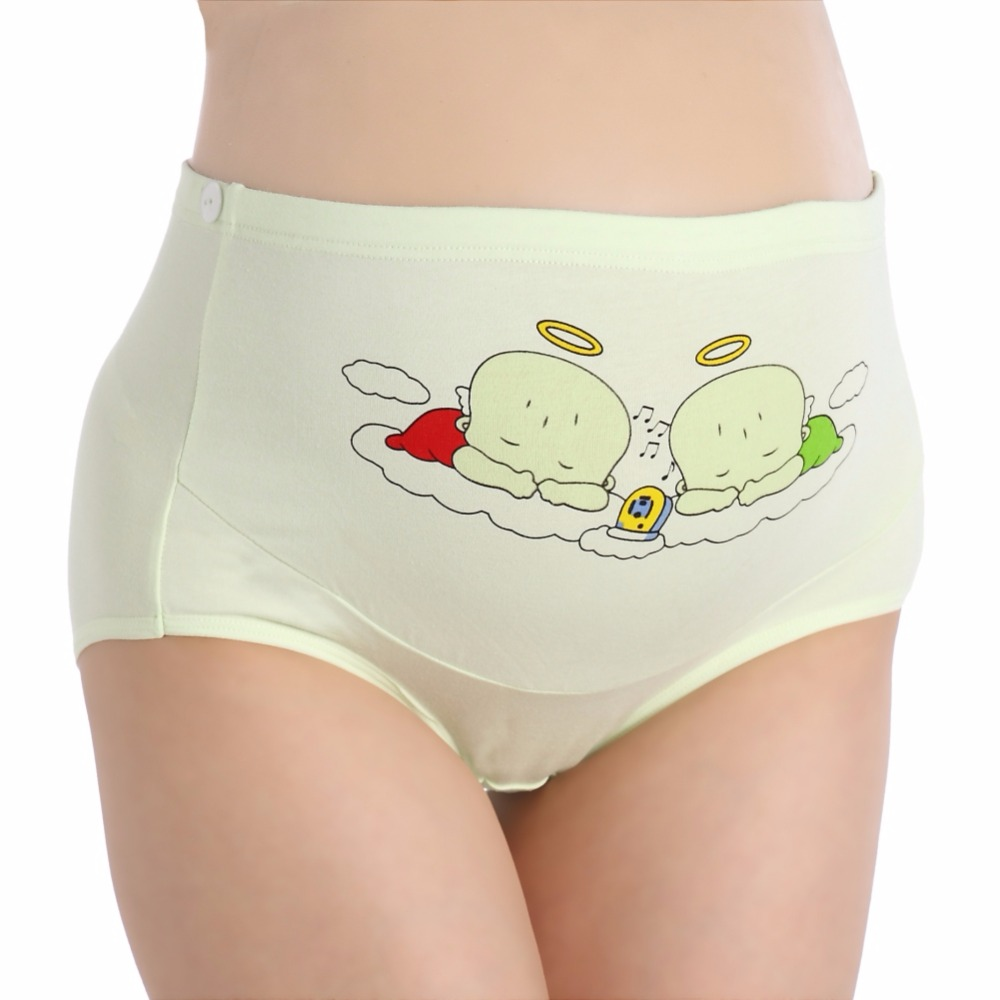 2018 Cotton Panties Adjustable Waist Maternity Underwear Cartoon Pattern Comfortable Panty Suitable For Dressing Q1