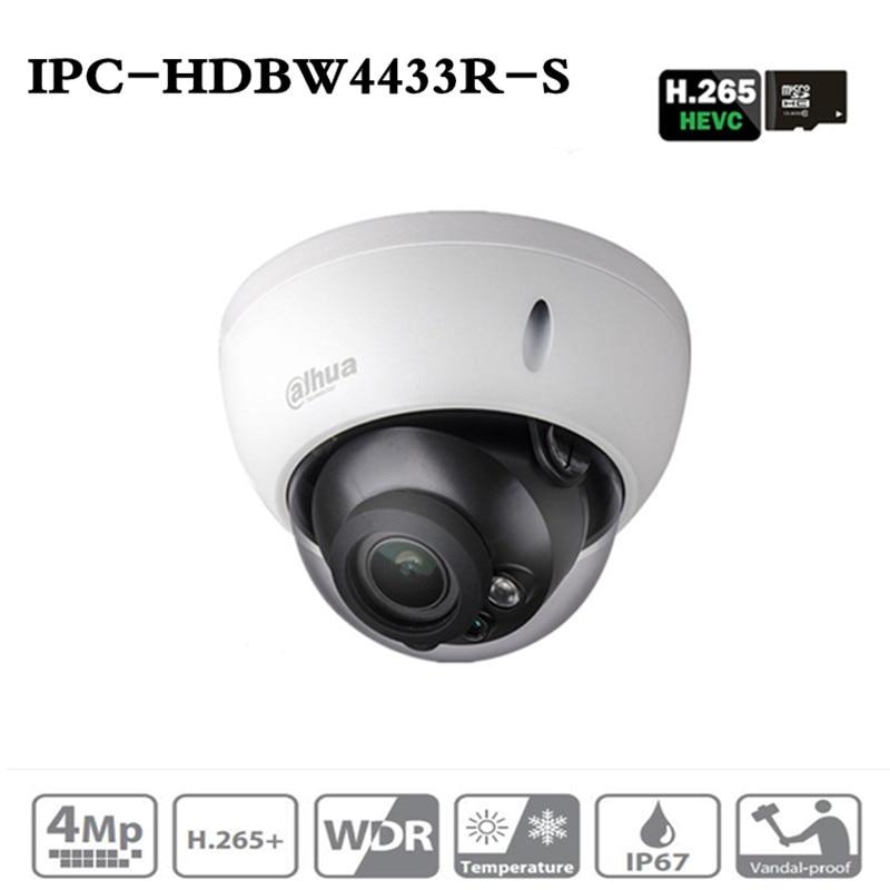 ahua Camera IPC-HDBW4433R-S 4MP IP PoE Camera Replace IPC-HDBW4431R-S With POE SD Card Slot Support IK10 IP67 Starnight Vision dahua ip camera poe 4mp ipc hdbw4433r zs starlight 2 7mm 13 5mm motorized lens h2 65 ir50m sd card slot ip67 ik10