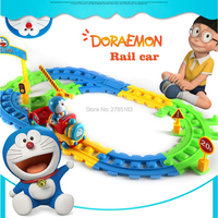 Smart Tracks Building block wheels toy set with sounds, Rail Toy Train pathway pieces Cartoon Electronics Train Track Playset