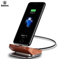 Baseus Wood Charger Dock Station Cell Phone Desktop Docking Station For iPhone 7 6 6s Plus se 5s 5 Wooden Charging Dock