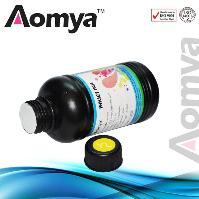 High Quality UV LED ink / UV ink for label ptinter for card printer can print on metal/ceramic/wood /glass, White/C/M/Y/BK