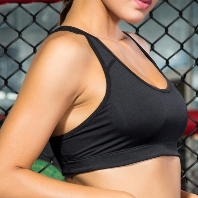 2018 Breathable Sport Bra Top For Fitness Women Yoga Gym Running Bra High Stretch Tank Push Up Vest Underwear Black Yoga Bra xc hot yoga set women fitness running exercise sport bra pants coat 3 colors breathable push up sports suit