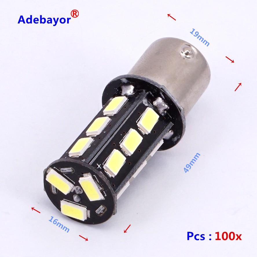 100pcs 1156 Ba15s P21w 5630 18 Smd Leds Light Car Led 2x 7506 7527 Bulb Wire Wiring Harness Socket 100x Hotsale 6 R5w Turn Signal Steering Lamp Brake Reversing Back Lightusd 3770 Lot