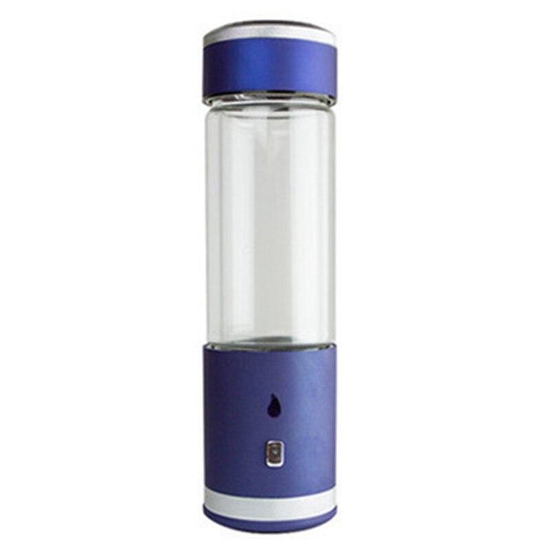 400Ml Spe/Pem Hydrogen Rich Water Bottle Alkaline Hydrogen and Oxygen Separation Lonizer Generator Anti-Aging Rechargeable Cup