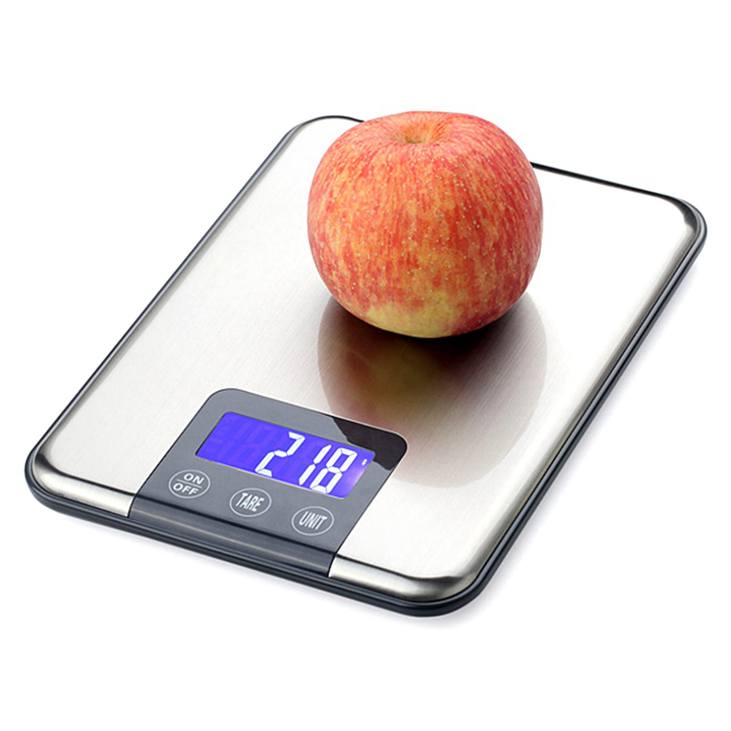 Mini 15kg 1g Digital Kitchen Scale Food Jewellery 15kg Electronic Blancing Touch Button LCD Measuring Tools Blue Backlight