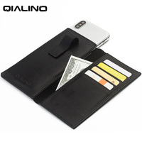 QIALINO Business Leather For IPhone X Genuine Leather Cover For IPhone X Wallet Pouch Card Slot
