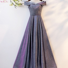 Prom-Gown Evening-Dresses Formal-Dress Walk-Beside-You Bling Robe Longue Elegant Off-Shoulder