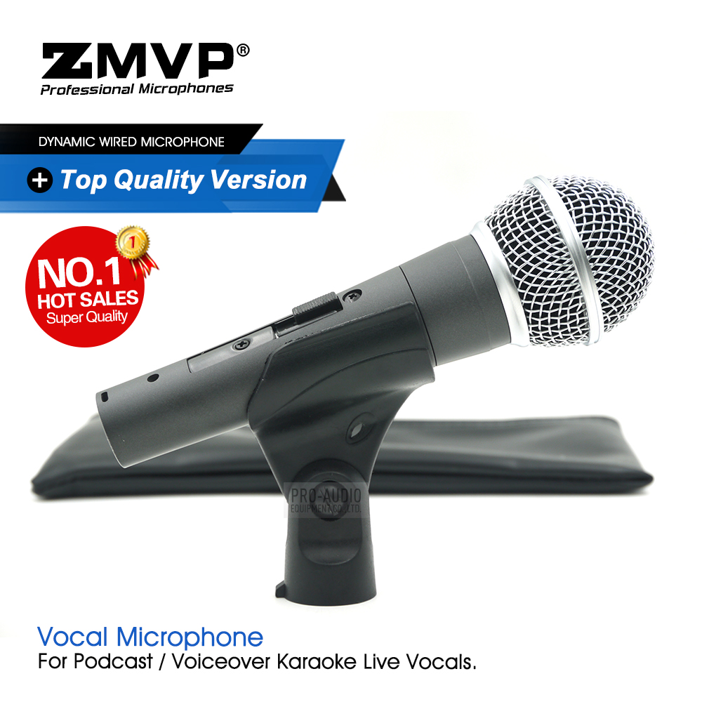 Top Quality Version SM58SK Professional Karaoke Wired Microphone 58SKT Mic for Live Vocals with Real Transformer On/Off switch|Microphones| |  - title=