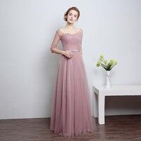 U SWEAR 2019 New Arrival Women Bridesmaid Dresses Sweetheart Half Sleeve High Waist Bow Chiffon Female Bridesmaid Dresses