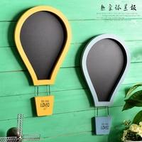 Livraison Gratuite! Cool Hot Air Ballon Forme Écrit Tableau Noir Tableau Mémo Mot Pad Message Board Shop & Home Mur Décor