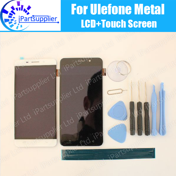 ФОТО Ulefone Metal LCD Display+Touch Screen 100% Original LCD Digitizer Glass Panel Replacement For Ulefone Metal+tool+adhesive