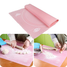 Silicone Baking Cake Dough Fondant Rolling Kneading Mat Scale Table Grill Pad For KItchen Tool