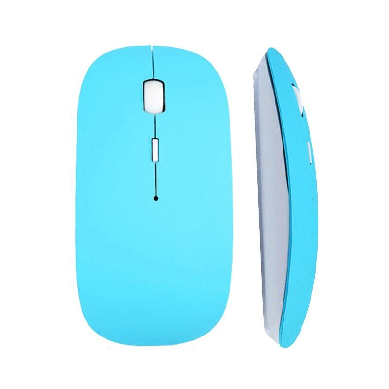 USB 2.4 Ghz Optik Birçok Renk Kablosuz Bluetooth Bilgisayar PC Laptop Için Fare Mause Masaüstü (pil dahil değildir)