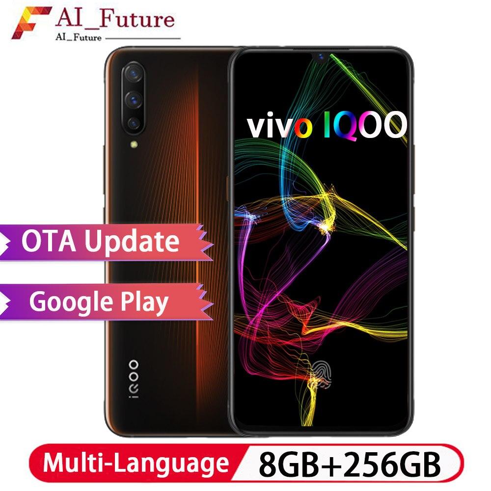 Smartphone d'origine VIVO IQOO 8 GB 256 GB Snapdragon855 Octa Core Android9 12MP + 13mp + 2MP caméra 6.41