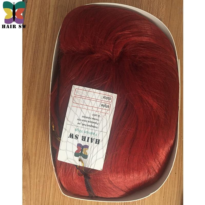 HAIR SW Long Wavy Synthetic Rabbit Cosplay Wig Koppar Red With Big - Syntetiskt hår - Foto 4
