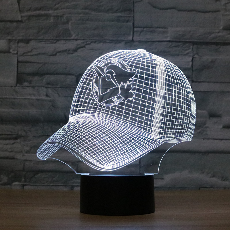 3D Nightlight LED Sport Shape Illusion USB Table Light Touch 7 Colors Toronto Blue Jays Lampara Desk Lamp For Children Kids