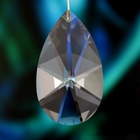 Machine Cutting 2280pcs 38mm Pear shape Lighting Pendant Crystal Glass Chandelier Parts Crystal Hanging Drops For Wedding Decor