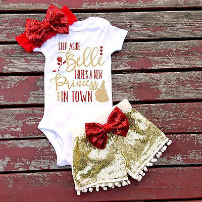 3 PIECES Newborn Kids Baby Girls Boys Tops Romper And Short Pants Headband Outfits Set Clothes newborn baby kids boys tops cool letter printing i do what i want sleeveless t shirt vest short pants 2pcs outfits set clothes