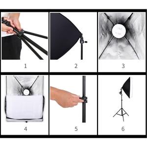Image 4 - 4 Pieces 135w Bulb Photo Studio Soft Box 4 Light Stand 2 Soft box Photographic Lighting Kit Camera & Photo Accessories Studio