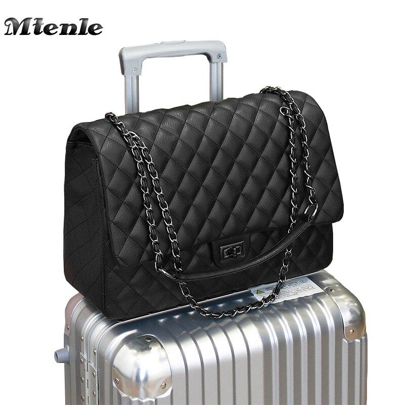 MTENLE большая сумка на плечо для женщин Дорожные сумки кожаные полиуретановый стеганый сумка женские роскошные сумки женские сумки дизайнер...