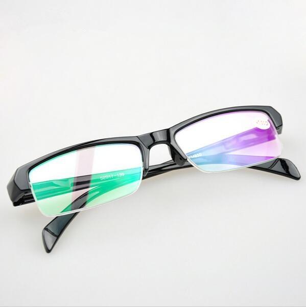 Pevné unisexové polorámové plastové rámy Optické brýle Studentské brýle RámMyopia Brýle na čtení na předpis Ženy Muži Oculos