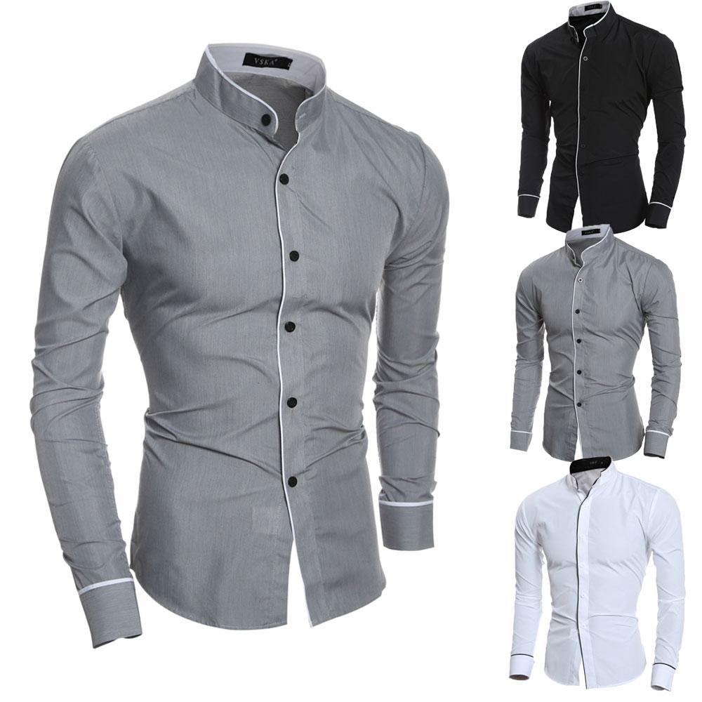Men/'s Fashion Luxury Casual Stylish Slim Fit Long Sleeve Dress Shirts M-2XL