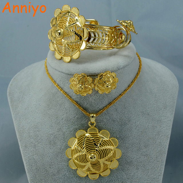 Habesha Gold Color Jewelry Set Popular Ethiopian Style Necklace