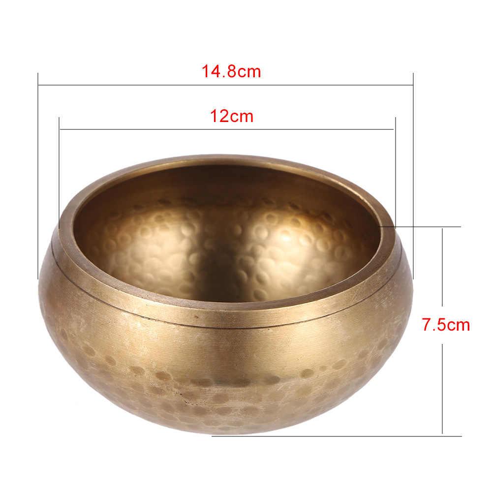 Exquisite 4.7 Polegada Tigela De Metal Cantando Handmade Tibetano Sino com O Atacante para o Budismo Buddhst Cura Meditação Relaxamento Yoga