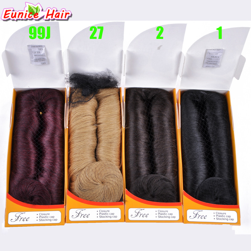 Eunice 28pcs/pack 3-5inch Short Straight Sew In Hair Extension Synthetic Hair Bundles Weave For Black Women