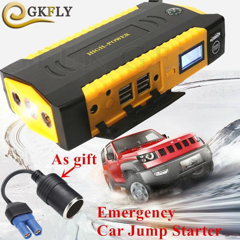 Аварийного 16000 мАч пусковое устройство 600A 12 В автомобильное зарядное устройство для автомобильного аккумулятора усилитель мобильный Дизел...