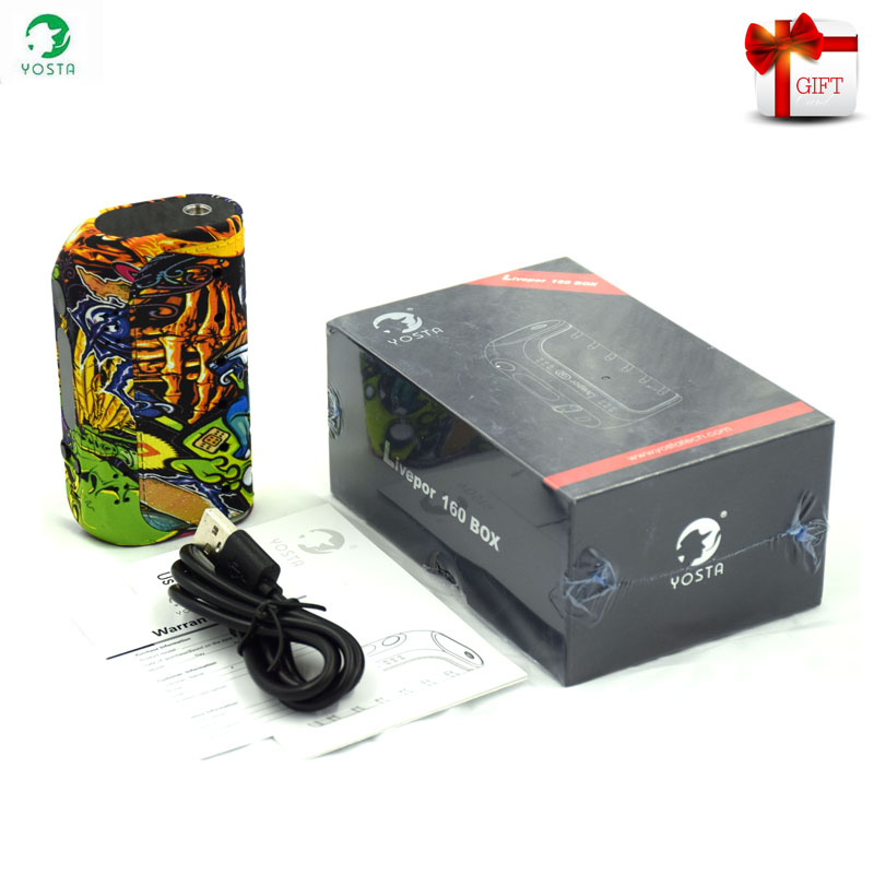 Original Electronic Cigarettes Yosta Livepor 160 Box Mod VW TC With Dry coil Protection OLED Screen