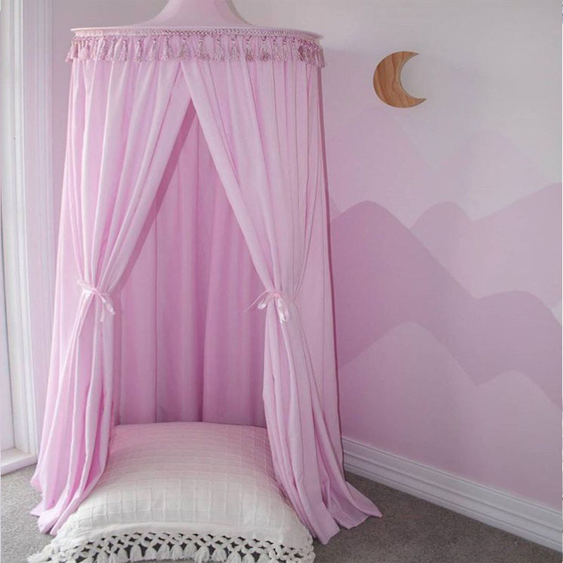 Mother & Kids Lovely Baby Room Crib Netting Kids Dome Hanging Bed Mosquito Net Children Summer Anti Pest Round Modern Tent Crib Netting