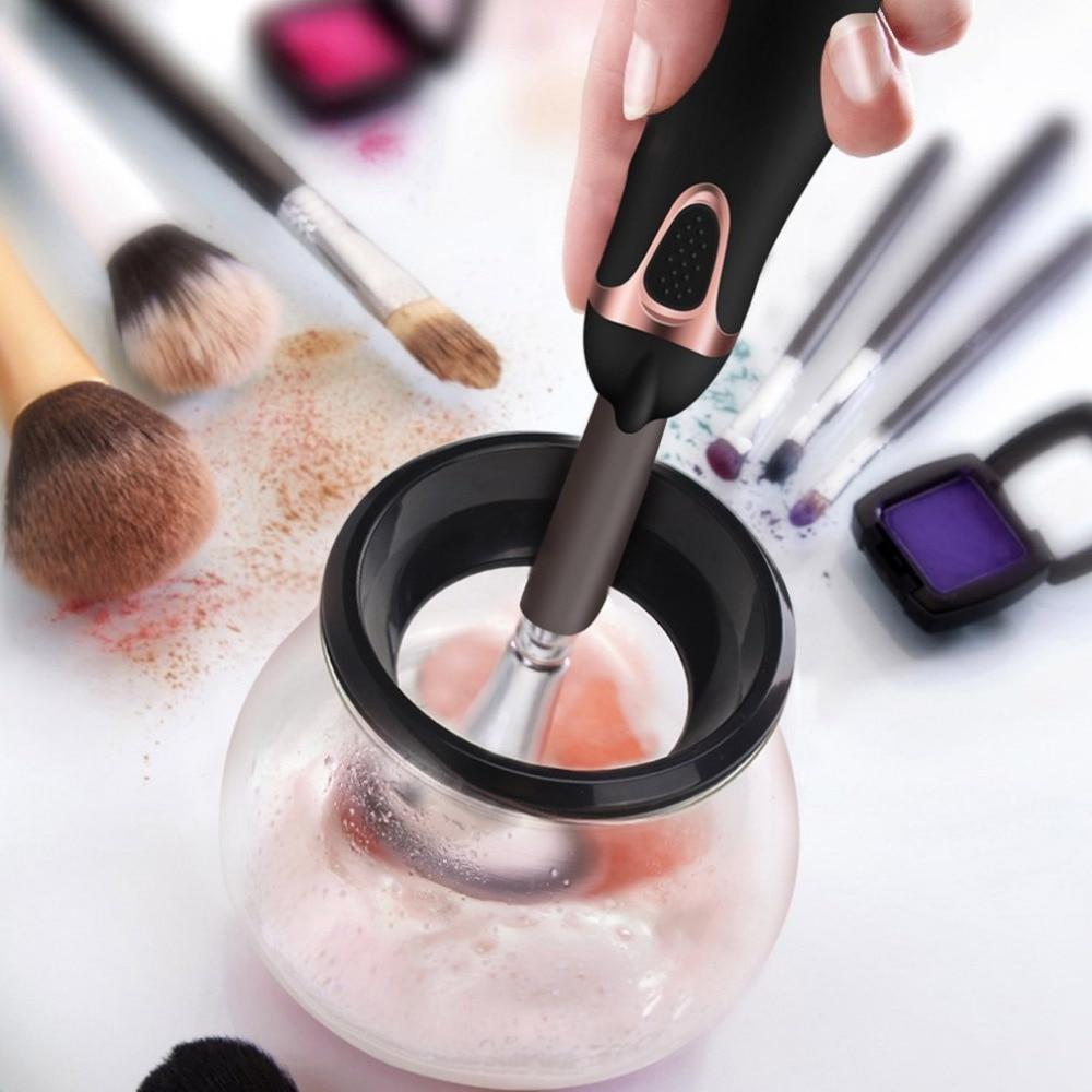 Maquillaje Profesional cepillo limpiador lavadora automática rotación cepillo cosmético hacer cepillos limpiador herramienta de limpieza