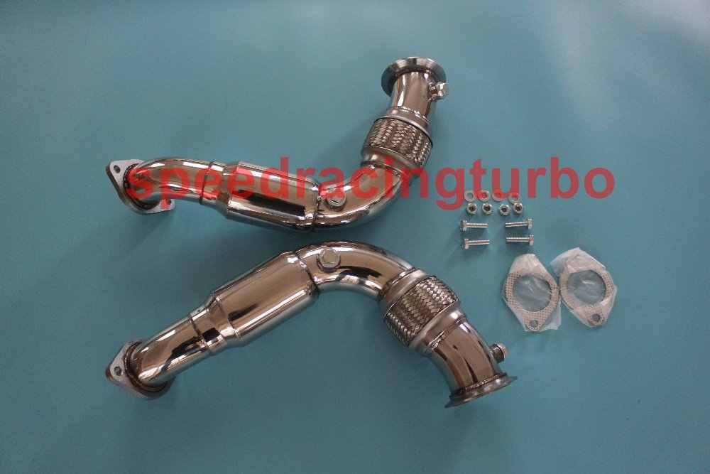 Нержавеющая турбо выхлопная гибкая труба для 08 14 X6/X5/5 /7 SERIES N63B44 4 V8