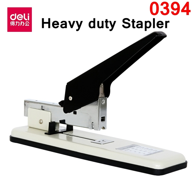 Deli 0394 Heavy Duty Stapler Office Supplier For 15 80 Papers 70g Paper With