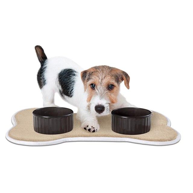 Absorbent Memroy Foam Pet Food Water Bowl Feeding Mat For Dogs Cat Size 48x35cm