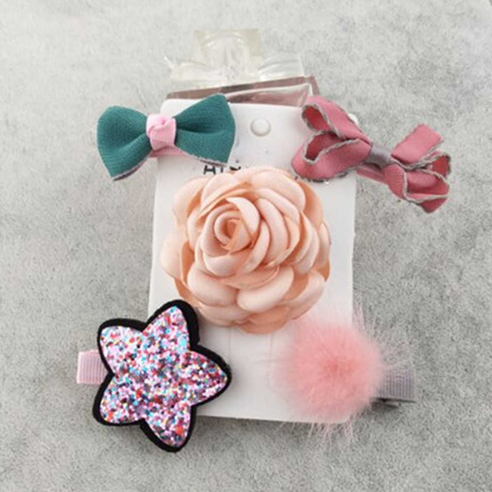 e1cea24b8c3b 5pcs Hair Clips Bow Duckbill Hairpin Headband for Kids Girl Gifts Hearwear  Accessories Crown Star Flower
