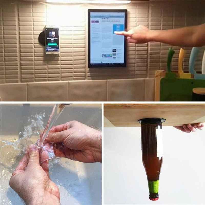 ใหม่ Hot Super ที่มีประสิทธิภาพ Fixate Gel Pad Strong Stick กาว Anywhere สติ๊กเกอร์ติดผนังเจลแบบพกพา