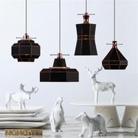 Новая классическая Стиль подвесные светильники светодиодные для Гостиная рестораны бар Винтаж подвесные светильники Lamparas черный/белый пр
