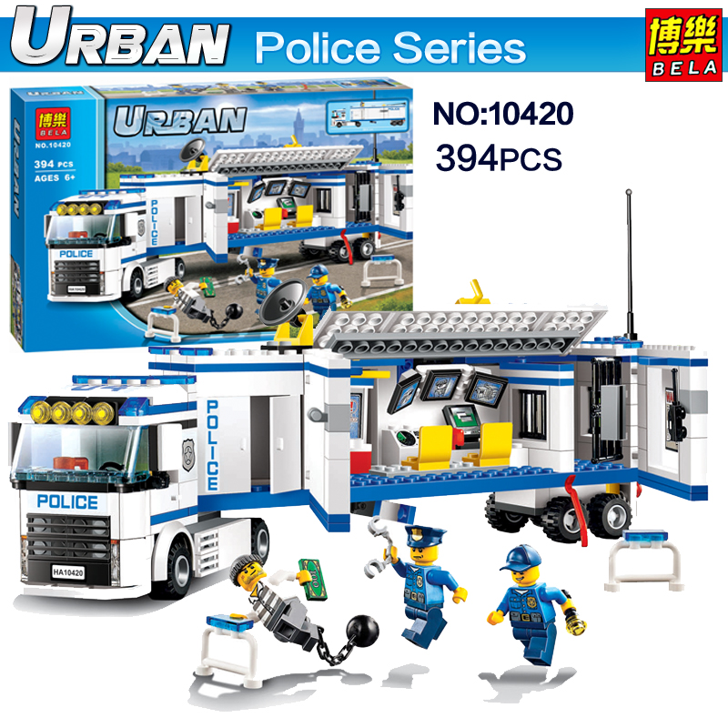 NEW Bela Urban Police Building Blocks bricks Toys fluidity Police Pursuit  for prisoners Classic figures Models Compatible 60044 цена 2017