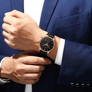 Image 5 - CRRJU relojes deportivos para hombre, de lujo, informal, resistente al agua, con correa de cuero de cuarzo, Masculino