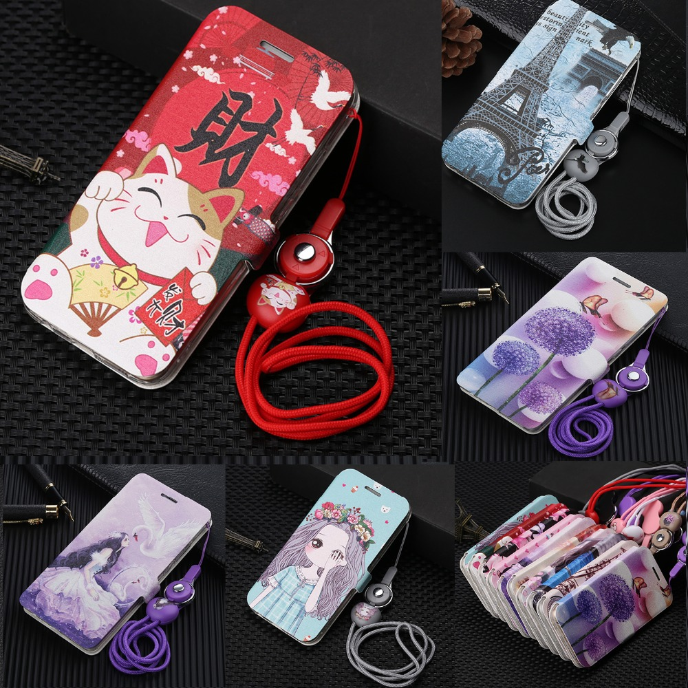 For <font><b>Meizu</b></font> X8 Note 8 16X Cute Painted Flip Wallet Leather <font><b>Case</b></font> For <font><b>Meizu</b></font> M5C A5 <font><b>Case</b></font> For <font><b>Meizu</b></font> Pro 7 Plus <font><b>M6s</b></font> <font><b>Case</b></font> Phone Coque image